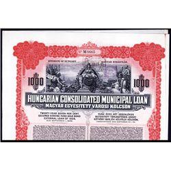 Hungarian Consolidated Municipal Loan.