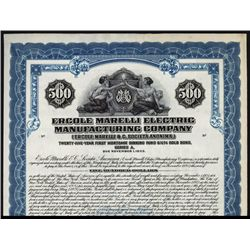 Ercole Marelli Electric Manufacturing Co. Specimen Bond.