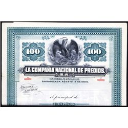 La Compania Nacional de Predios Specimen Bond.