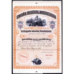 Compania Industrial Manufacturera Specimen Bond.