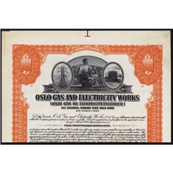 Oslo Gas and Electric Works Specimen Bond.