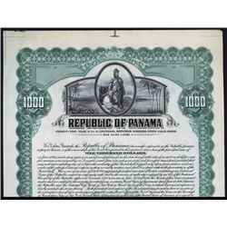 Republic of Panama, Archival Specimen Bond.