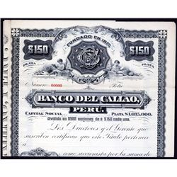 Banco del Callao Specimen Bond.