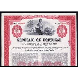 Republic of Portugal Specimen Bond.