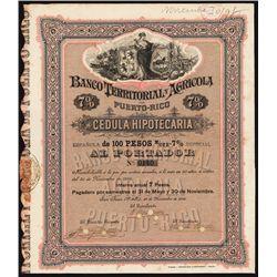 El Banco Territorial y Agricola de Puerto Rico Bond.