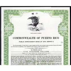 Commonwealth of Puerto Rico Public Improvement Bond.