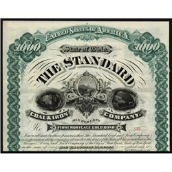 Standard Coal and Iron Co. Bond With Oliver Ames Autograph.