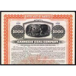 Carnegie Coal Co. Specimen Bond.