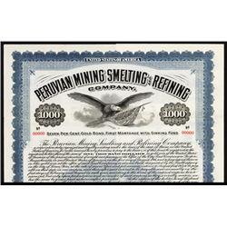 Peruvian Mining Smelting and Refining Co. Specimen Bond.