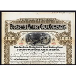 Pleasant Valley Coal Co. Specimen Bond.