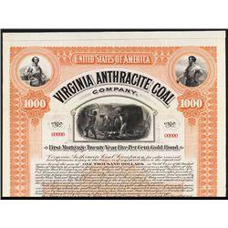 Virginia Anthracite Coal Co. Specimen Bond.