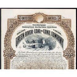 Green River Coal & Coke Co. Specimen Bond.