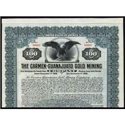 Carmen-Guanajuato Gold Mining Specimen Bond.