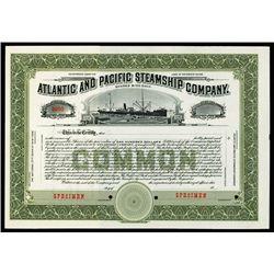 Atlantic and Pacific Steamship Company Specimen Stock.