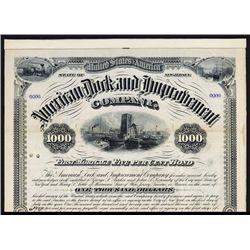 American Dock and Improvement Co. Specimen Bond.