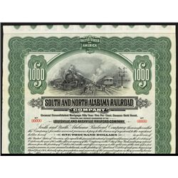 South & North Alabama Railroad Co. Specimen Bond.
