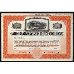 Cairo Railway & Light Co.Specimen Stock.