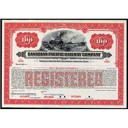 Canadian Pacific Railway Co. Specimen Bond.