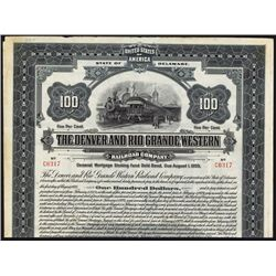 Denver & Rio Grande Western Issued Bond.