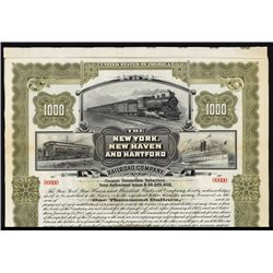 New York, New Haven and Hartford Railroad Co. Specimen Bond.