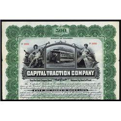 Capital Traction Co. Specimen Bond.
