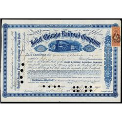 Joliet and Chicago Railroad Company With Jesup Signature.
