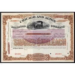 Chicago & Alton Railroad Co. Specimen Stock.