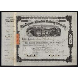 The Tyrone and Clearfield Railway Co. Shares.
