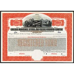 Chicago, Milwaukee, St. Paul and Pacific Railroad Co. Specimen Bond.