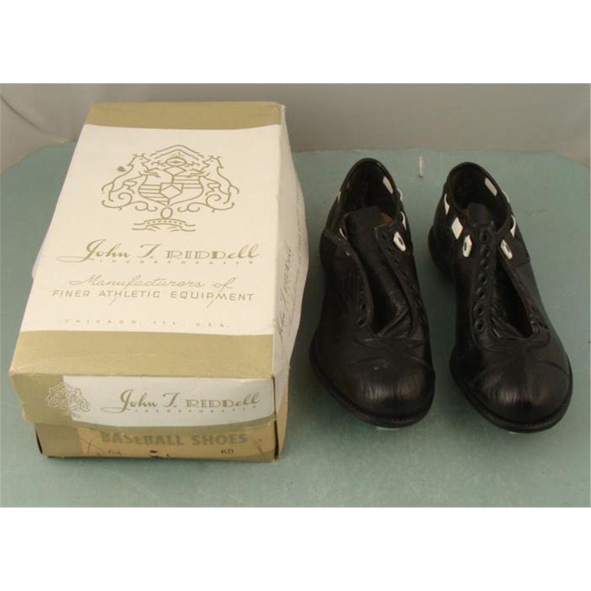 Vintage 1950s 1960s Riddell Baseball Shoes Mib Sz 65