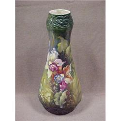 Porcelain vase in pear form with hand paint