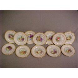 "A set of twelve fruit plates, 9"" dia.,  each"
