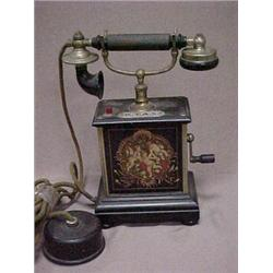Early 20th C. French style telephone