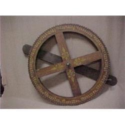 C.1910 gambling wheel with arm, stencil