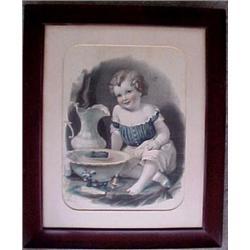 "Framed lithograph ""Little Navigator"", signed"