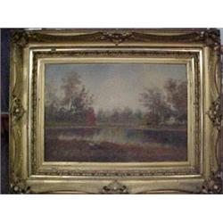 Victorian framed oil on canvas, landscape