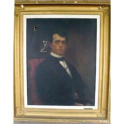 "Framed oil on canvas ""Portrait of Robert"