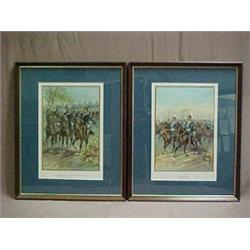 A pair of framed chromolithographs, Royal B