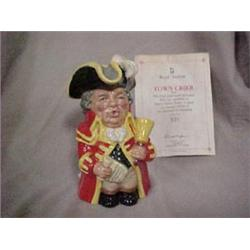"""TOBY JUG """"TOWN CRIER"""" MODELED BY S.J.TAYLOR"""