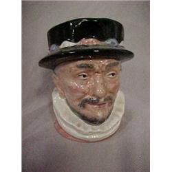 """SMALL CHARACTER JUG, """"BEEFEATER"""",D6233,COPR"""