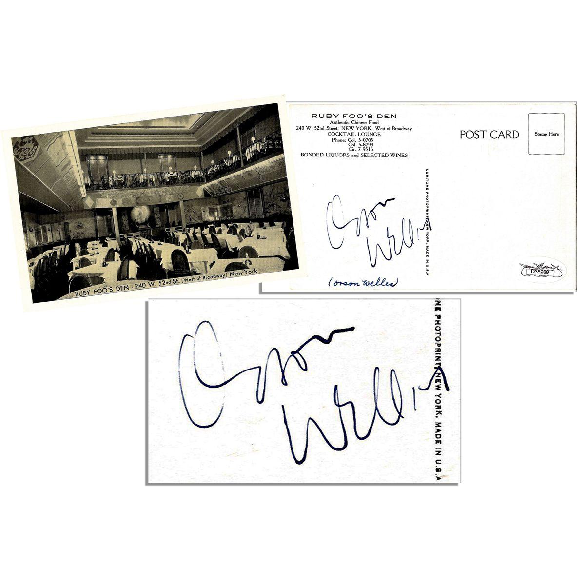 ++Hollywood Legende++ Orsen Wells +Autogramm+
