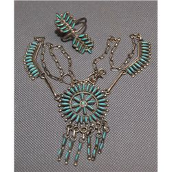 ZUNI NECKLACE AND RING