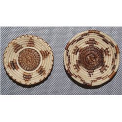 TWO PAPAGO HORSEHAIR BASKETS