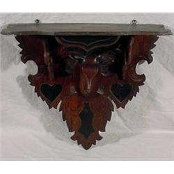 Carved Walnut Hanging Shelf, Ca. 1880