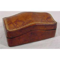 Leather Hinged Vanity Box