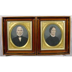 Pair of Hand Colored Photographs