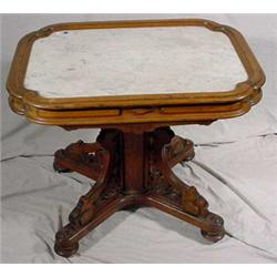 Fine Victorian Carved Walnut Center Table