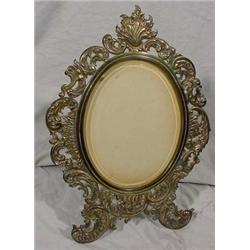 Rococo Style Brass Plated Iron Standing Frame
