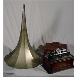 """""""The Columbia Graphophone"""" Cylinder Record Player"""