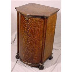 Tiger Oak Cylinder Record Cabinet + 118+ Cylinder Records